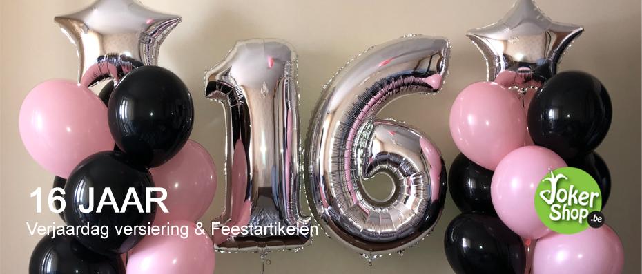 verjaardag versiering sweet 16 jaar decoratie feestartikelen
