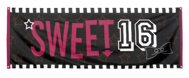 verjaardag sweet 16 sixteen jaar thema feest versiering artikelen